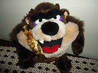 24K Mighty Star Warner Bros TASMANIAN DEVIL Doll Plush 8.5 Inch 1993