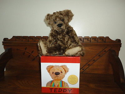 Antique Teddy Bear Picture Blocks Stacking Boxes Artist Sue Coe Faux Mohair