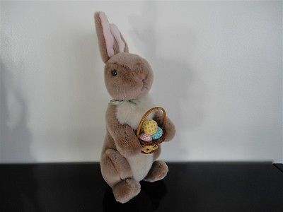 Gund Classic Pooh Brown Rabbit with Egg Basket 10 Inch