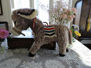 Antique Merrythought Mohair Pablo Donkey Holt Renfrew 19 Inch 1960s