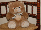 Chosun Netherlands Brown Teddy Bear 2 Zippers at Paw Pads 27 CM