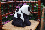Kempenaar Netherlands Vintage Plush Panda Bear Mother and Baby On Back 9.5 inch