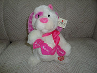 Carlton Cards How Sweet It Is Hugging Singing Pink Dog Battery Operated NEW