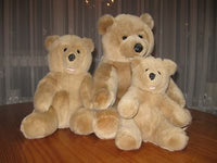 Woodland Bear Company UK Set of 3 Family Masked Teddy Bears
