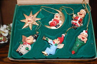 Efteling Holland Gnome Laaf Products Christmas Ornaments Set of 6 New in Box