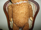 Antique 50s Hermann Germany Bear 23in Glass Eyes Mechanical Arms Legs Straw