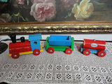 Old Vintage HEROS Western Germany Wooden Toy Train Set 3 Sections ESSO Tanker