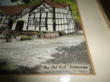 Antique Britain UK Tavern Lithograph THE OLD BULL INKBERROW Artist R.Stanley