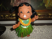 Vintage Hong Kong Hawaiian Hula Doll Moody Cuties Poseable 6 inch