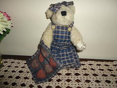 Boyds Bears Quilt Patch Bear Camomille Q. Quignapple 9.5 inch