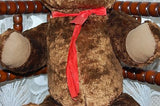 Antique Dutch Dark Brown Humpback Teddy Bear w Tongue 25 Inch Disc Jointed