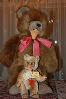 Hermann Germany Standing Teddy Baby Zotty Bear STUDIO WORLD LARGEST SIZE 23 Inch