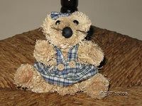 Old Vintage UK Girl Straw Mouse / Cat