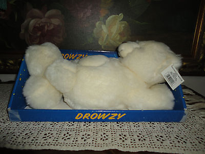 "DROWZY Mechanical Snoring Yawning Laying Bear Big Belly Moves 14"" Autruche PQ"