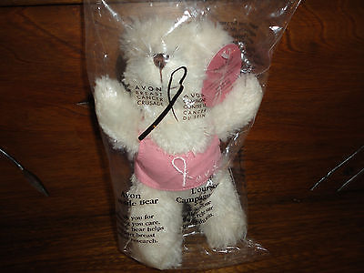 Avon Canada 2004 Cancer Flame Foundation Bear Mint in Bag