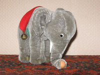 Steiff Elephant Mohair Plush 0500/17 1968 - 1976 Silver Button Tag Tusks