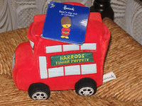 Harrods 3 BEAR FINGER PUPPETS & London Bus w Story Book ALL TAGS