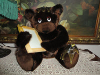 Artist Designed Brown BEAR with Bees & Picture Frame Rare OOAK Faux Mink 13