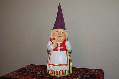 David The Gnome Authentic Rien Poortvliet Wife Lisa Statue Large 15.5 Inch 2015