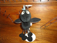 Gund Black Beans Stuffed Bug 7 inch Dangling legs