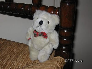 AA Soft Toys Ltd UK Jointed 5 Inch Miniature Teddy Bear Plush Plaid Bow Paws