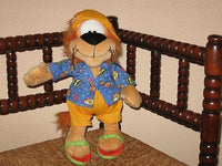 Anna Club Plush Loeki The Lion Dutch TV Character Doll Hawaiian Outfit 13 Inch