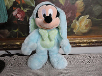 Original Disney Store London UK MICKEY MOUSE Easter Bunny Rabbit Doll 15 inch