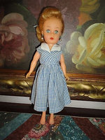 Antique 1950s Rubber Doll 10.5 inch Marked P Fully Jointed Twisting Waist