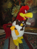 Warner Bros Studio Store 1995 Foghorn Leghorn Rooster with Chicken Hawk 16 inch