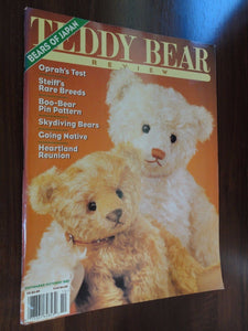 Teddy Bear Review Magazine Back Issue Sept / Oct 1995 Boo-Bear Pattern Oprah