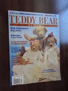 Teddy Bear Review Magazine Back Issue Jan / Feb 2000 Deb Canham Effanbee Douglas