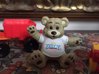 Zeddy Bear Retired Rubber Teddy Figurine Zellers Inc. Department Store 2 inch
