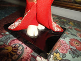 Vintage Japanese Geisha Figurine on Wooden Stand 12 inch
