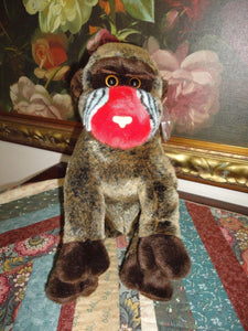 Ty Original Beanie Buddy Collection Cheeks Baboon Retired Tag and Protector NEW