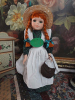 Anne of Green Gables Handcrafted Porcelain Doll 15in Designed PEI Canada