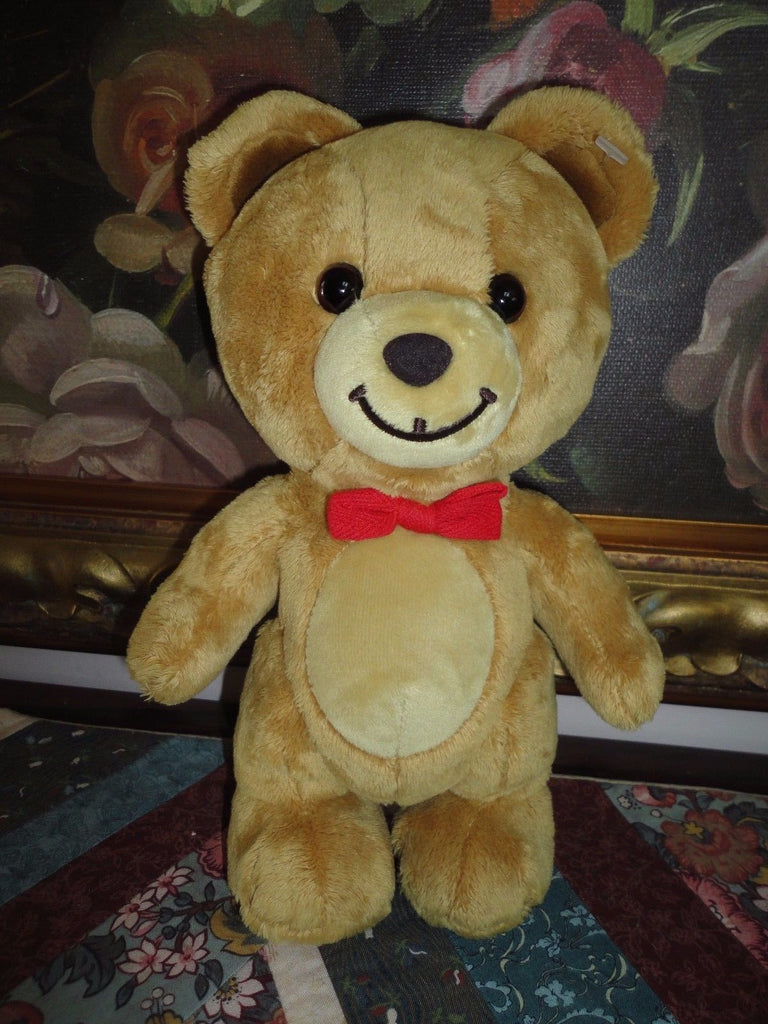 Gund Kraft Peanut Butter Bear Red Bow Tie 2001 Enesco Canada 10 inch
