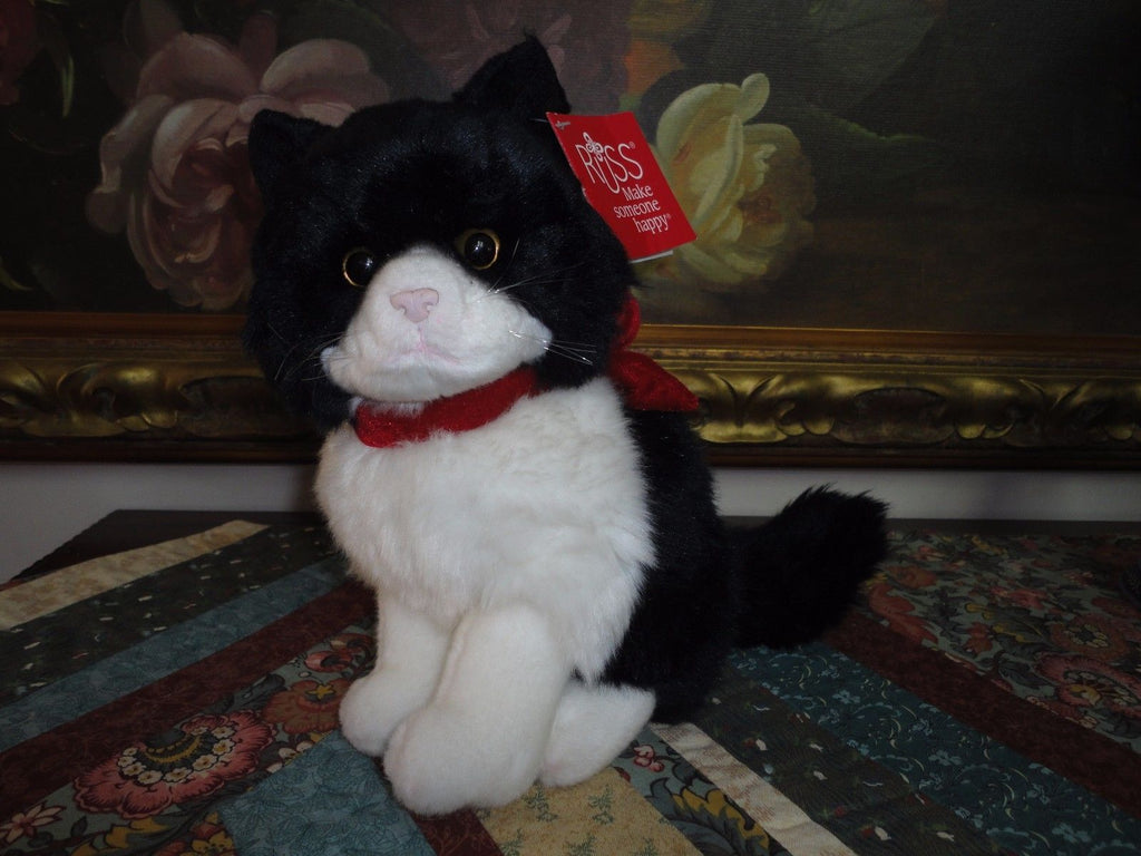 Russ Berrie MISTY Black and White Cat 8 inch Item 33105 Retired