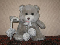 Vintage Dutch Girl Teddy Bear with Umbrella