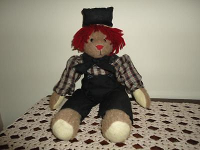 Olde Memories Collection Usa RAGGEDY ANDY BEAR 16 Inches 30% Sand Filled