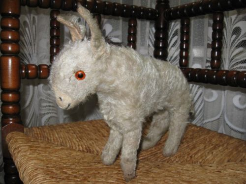 Old Antique 1930s Hermann German Mohair Donkey 25 cm Pre War
