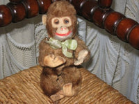 Old Antique 1930s Japanese Japan Monkey Silk Plush 16 CM