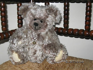 AOOAK German Mohair Bear with Bell by Pitti Bears Rare