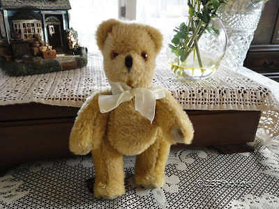 Canterbury Bears Kent England 1990 Mohair Bear Classic Jointed Teddy Gold 9 Inch
