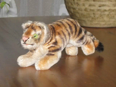 Steiff Mohair Tiger Cub 10 cm w. Button 1310,0 54 - 67