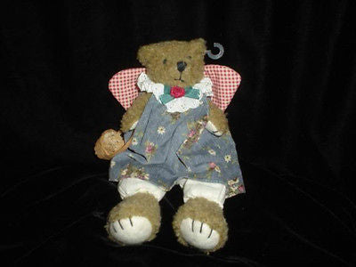 Russ Berrie Harmony Bear 1814 Fully Dressed With Basket