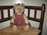 Antique Fechter Bear Old Austria Blonde Mohair Growler 40cm 15 Inch 1960s