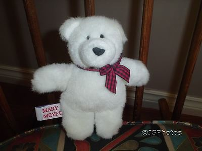 Mary Meyer White Teddy Bear Finger Puppet 1997 Retired