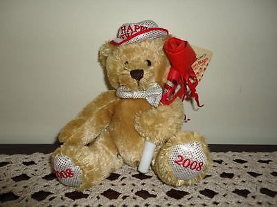 Plushland March of Dimes 2008 Happy New Year BEAR Handmade