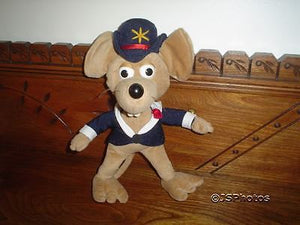 Vintage Mouse Stuffed Toy Handstitched RARE