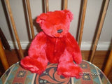 Giant Star 2000 Red Plush Teddy Bear Jointed Retired